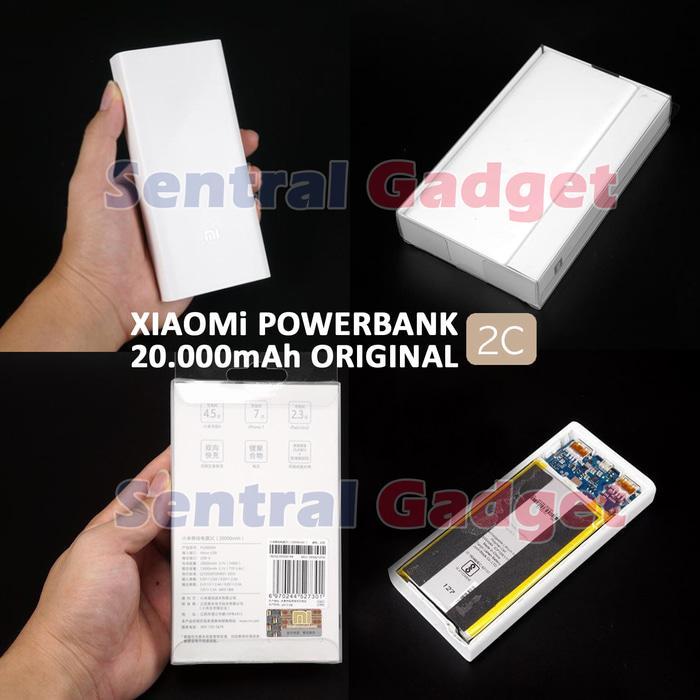 Promo       Power Bank Original Xiaomi Gen2 Mi 20000mAh Powerbank Quick Charge 3.0       Diskon