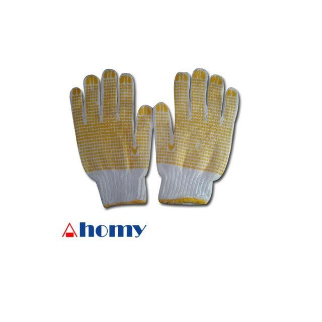 1 psg sarung tangan katun grip bintik tutul karet kuning