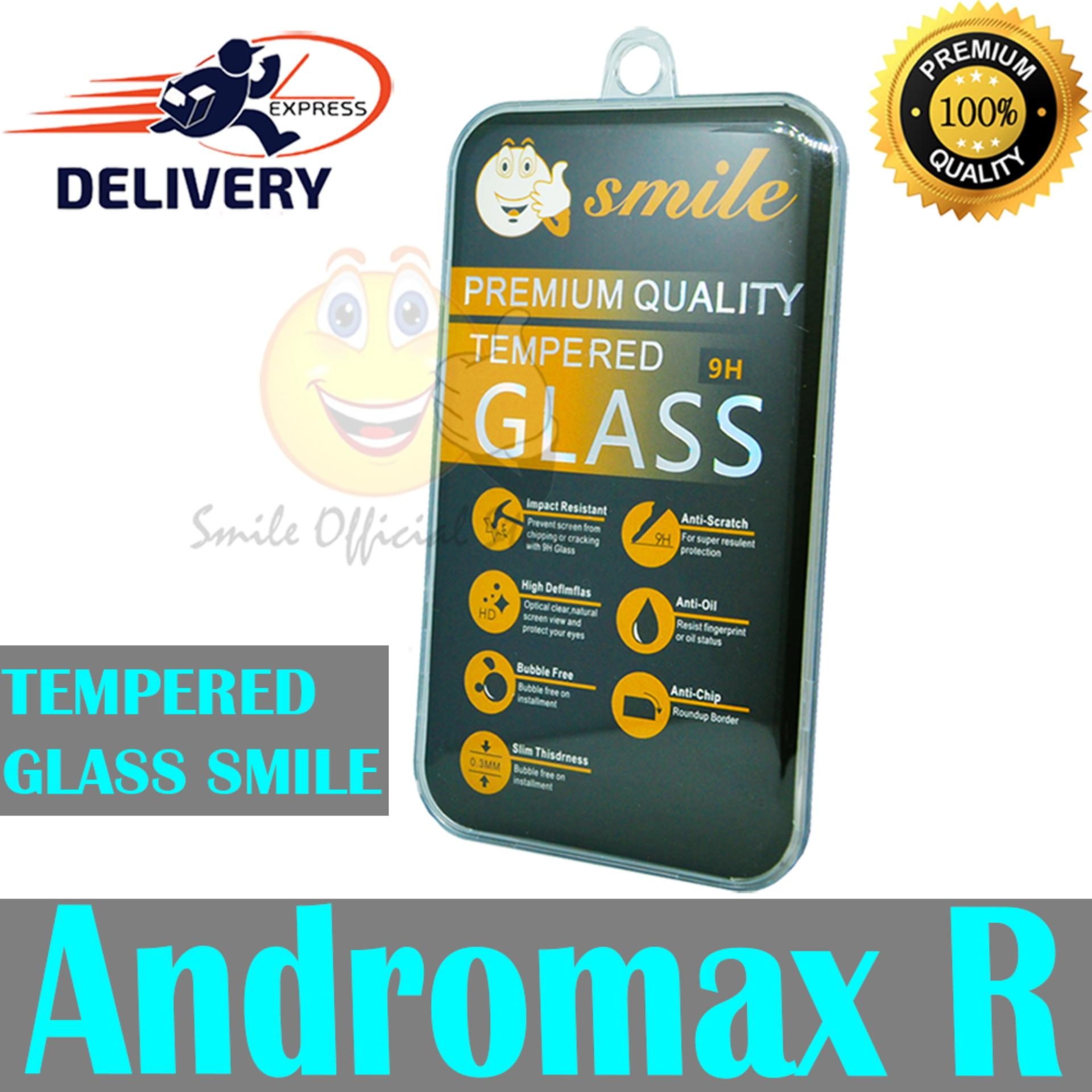 Smile Tempered Glass Andromax R 9H High Quality