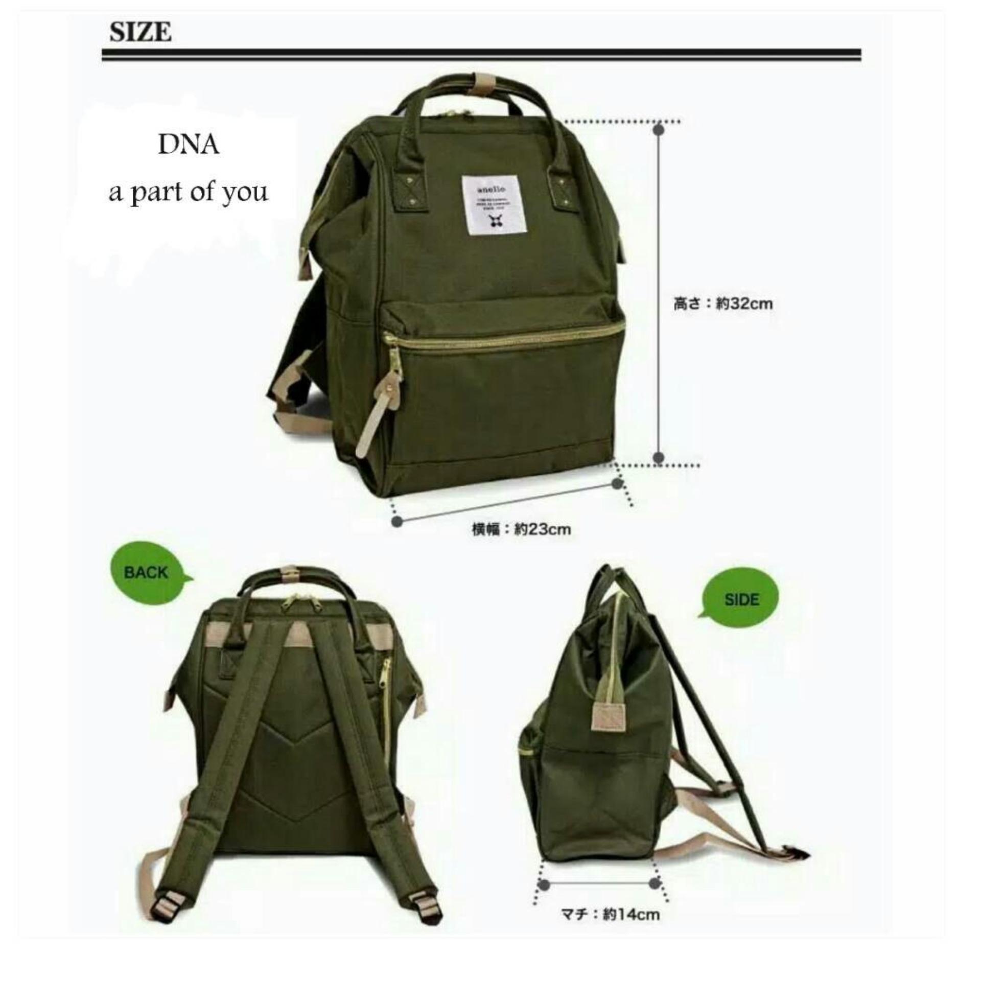 Anello HD Nylon Backpack Tas Ransel Casual Multifungsi