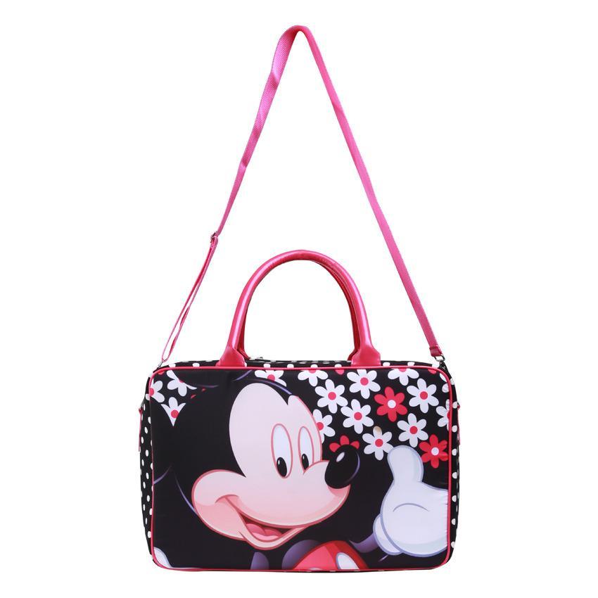 AMT Tas Travel Bag Koper Kanvas Premium Pria dan Wanita Komplit Aksesoris Mini Miki Tikus