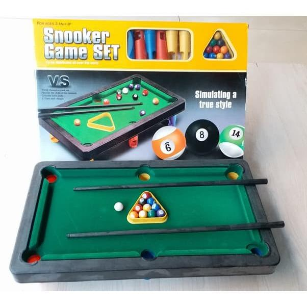 MAINAN MEJA BILLIARD SNOOKER GAME SET