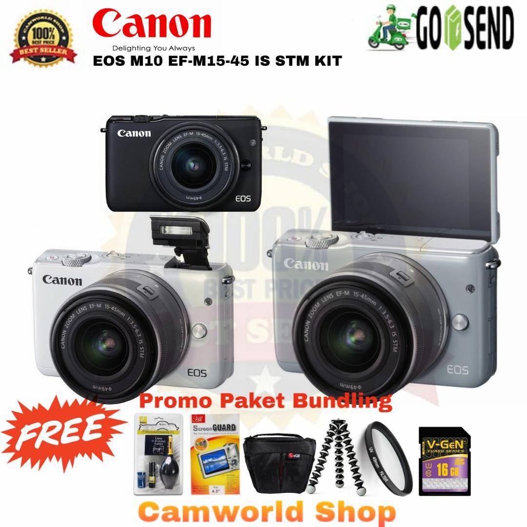 Mirrorless Canon Eos M10 Kit 15 45 22mm 45mm Is Stm Paketan Bonus