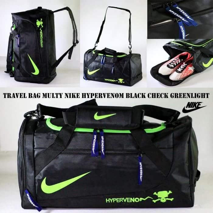 Travel Bag Multy Nike Hypervenom Black Greenlight