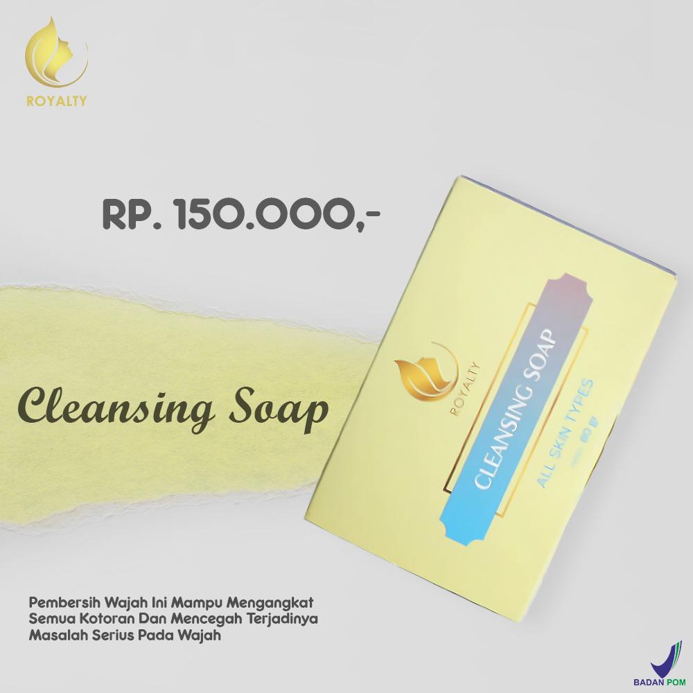 Penghilang Jerawat Ampuh Dan Aman Royalty Cosmetic Soap Cleansing Sabun Wajah Dari Bahan Alami Untuk Menghilangkan Jerawat Yang Membandel Serta Komedo 100% ORIGINAL