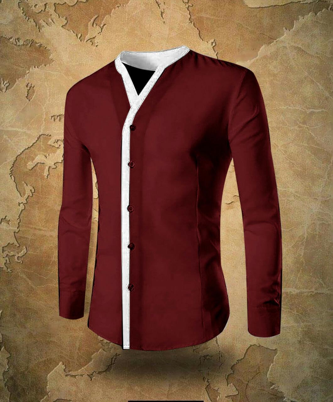 Katalog Baju Koko Cardinal Casual Murah Kemeja Pria Polos Lengan Panjang Slim Fit Kedai Korean Style Slimfit Ton 7z