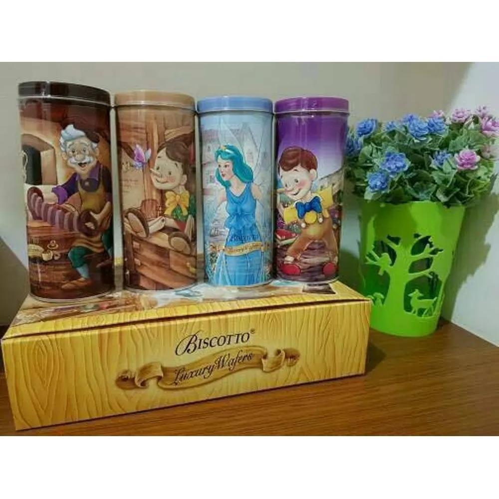 Biscotto Luxury Wafers Stick Coklat dan Vanila