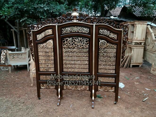 Promo    Sketsel Kaligrafi Jati (furniture, kursi, lemari, bufet, nakas)    Original