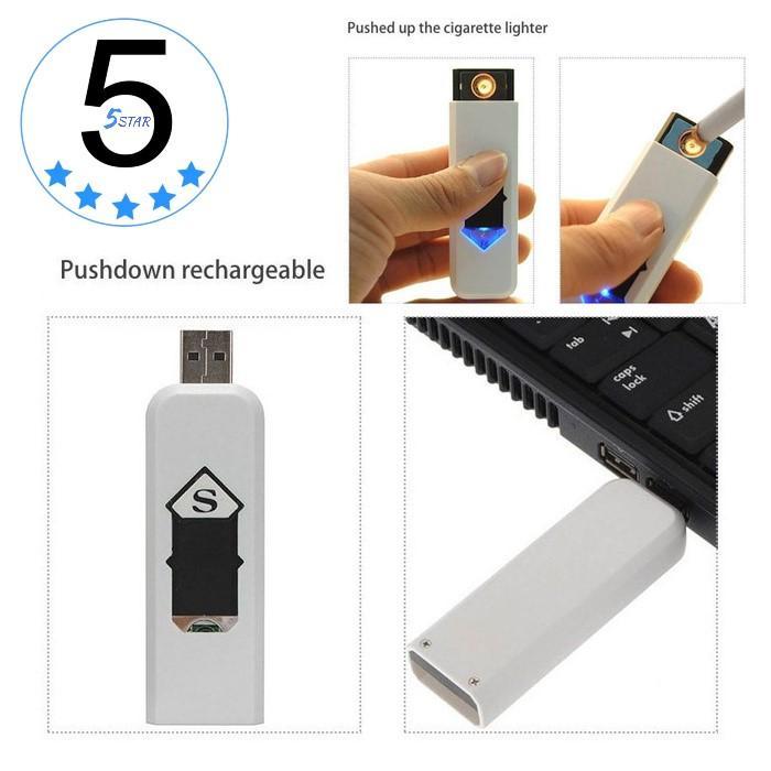 CDS Korek Api Elektrik Lighter USB Anti Angin - 5 STAR