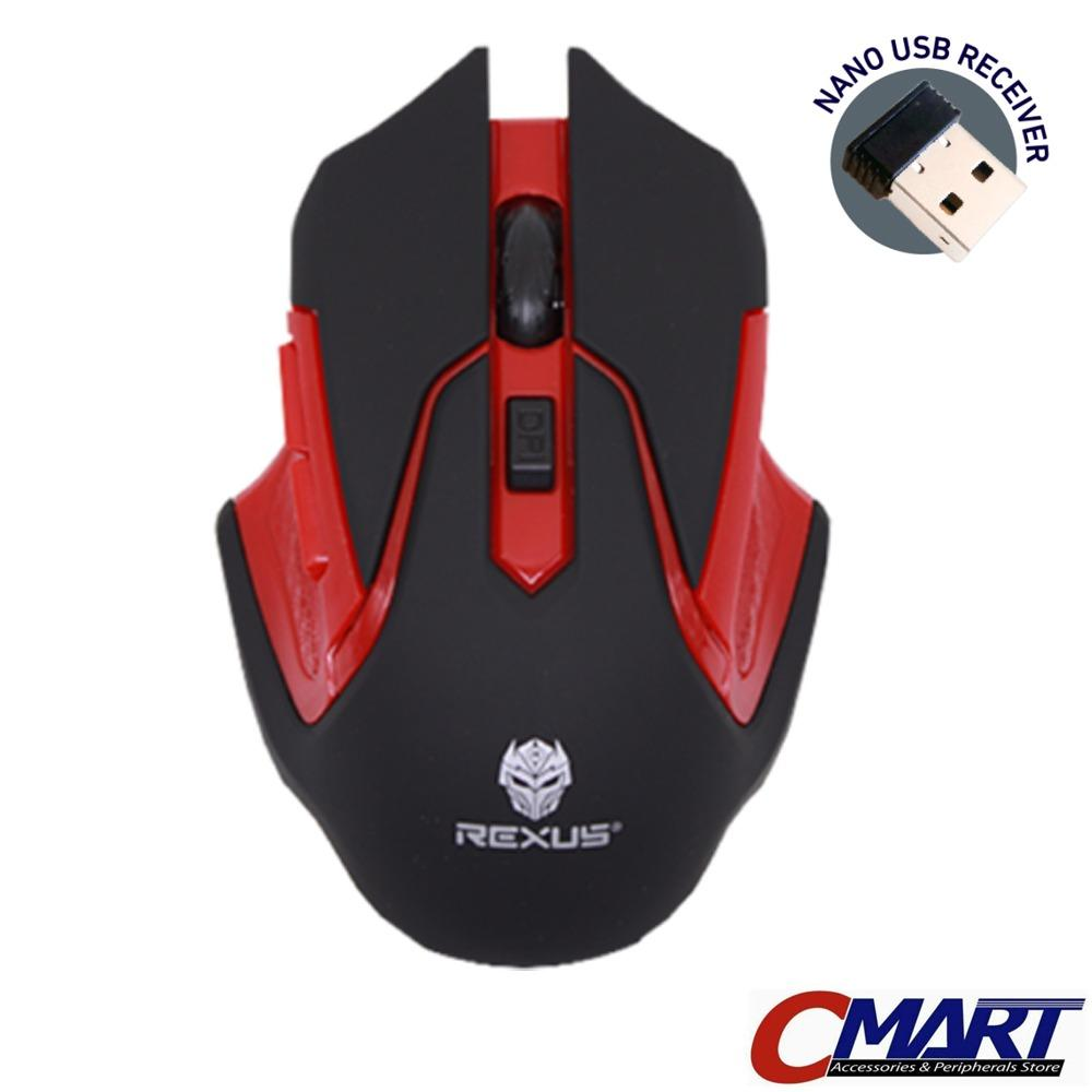 Rexus Xierra S5 AVIATORr Wireless Gaming Mouse for Gamers MERAH (RED) - REX-RXM-S5AV-RD