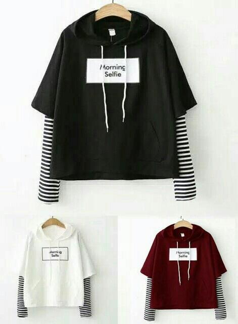 inbox fashion sweater morning selfie / en / couple / tunik wanita / dress / jaket