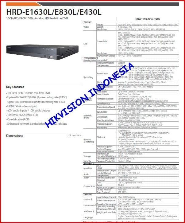 PROMO - DVR AHD SAMSUNG 1080P ORIGINAL HRD-E830L