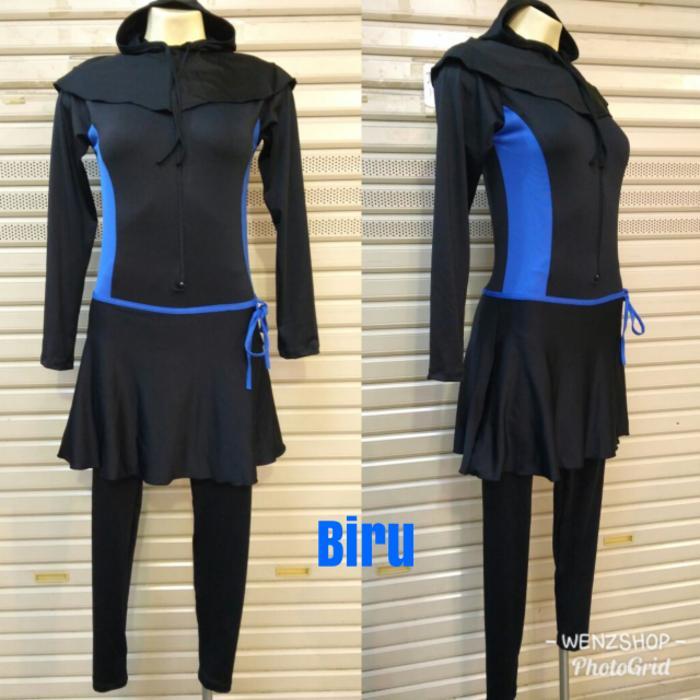 baju renang muslim wanita polos ukuran Besar / Jumbo 4L & 5L