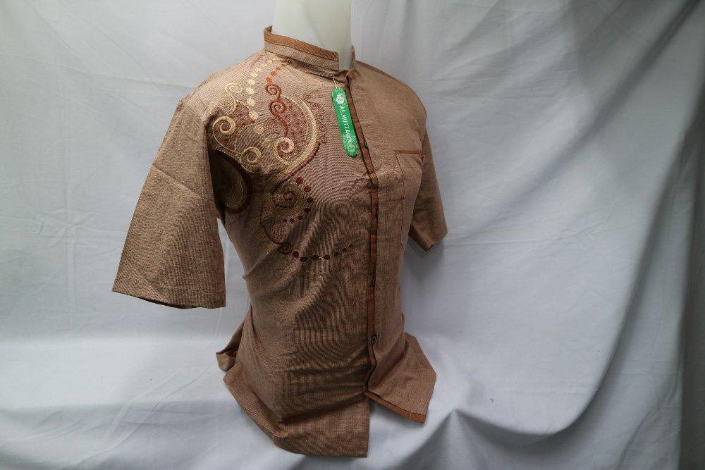 Kemeja Muslim Pria Lengan Pendek Baju Koko Dewasa Bordir Gamis Baju Muslim Al Muttaqin KIT 067 di lapak Al Muttaqin Collection produsenbajukoko