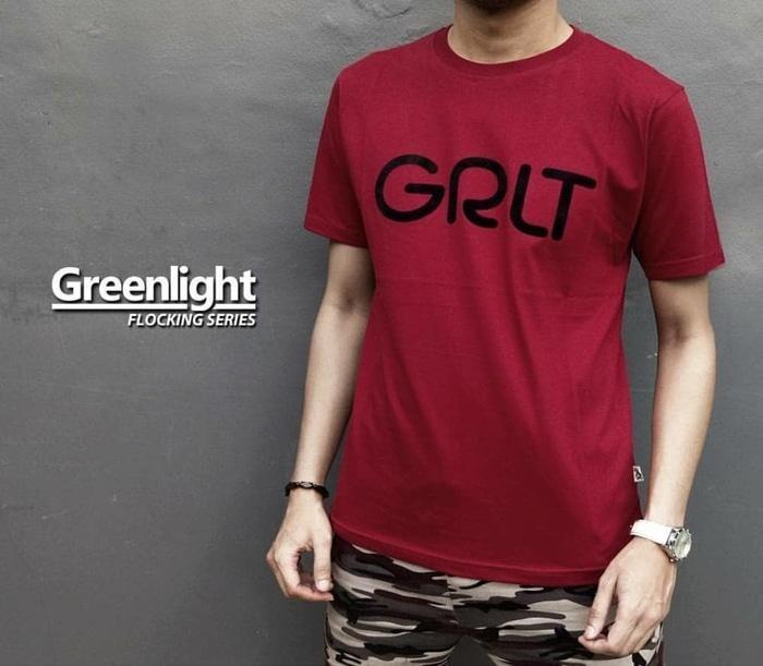 Distro/Kaos/Baju/T-Shirt/GREENLIGHT GRLT FLOCKING SERIES - WGHaDd