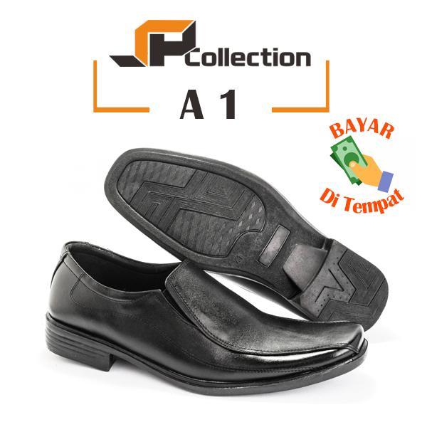 SPATOO Sepatu Pantofel Pria A1 – Hitam / Sepatu Pria Murah / Sepatu Pantofel Kulit Pria Asli / Sepatu Pria Kulit Asli / Sepatu Kerja Kulit Pria / Sepatu ...