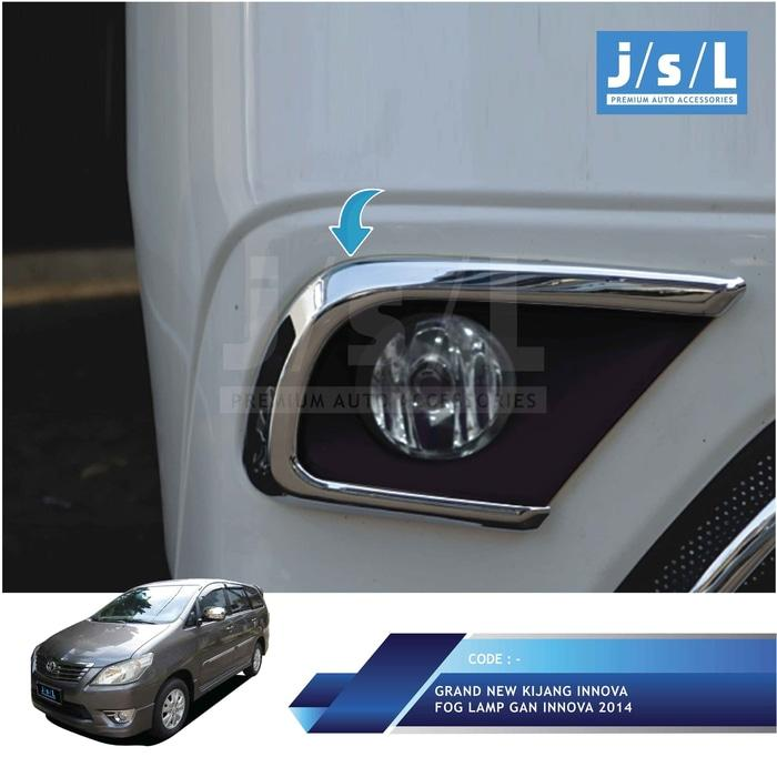 Kijang Innova 2014 2015 Cover Lampu Kabut / Fog Lamp Cover Chrome
