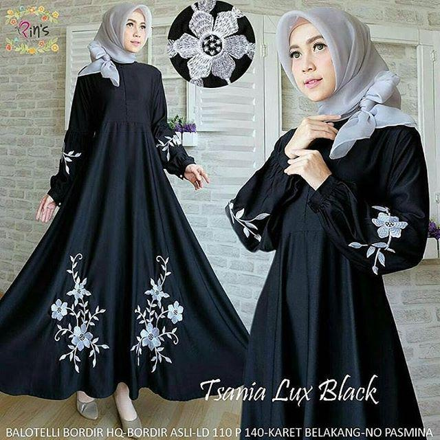TJK Fashion TSANIA Dress Gamis Casual Terbaru