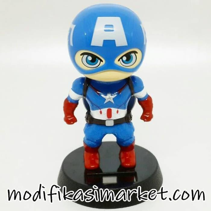 Pajangan Solar Captain America Limited Kualitas Bagus By Amaliastore.