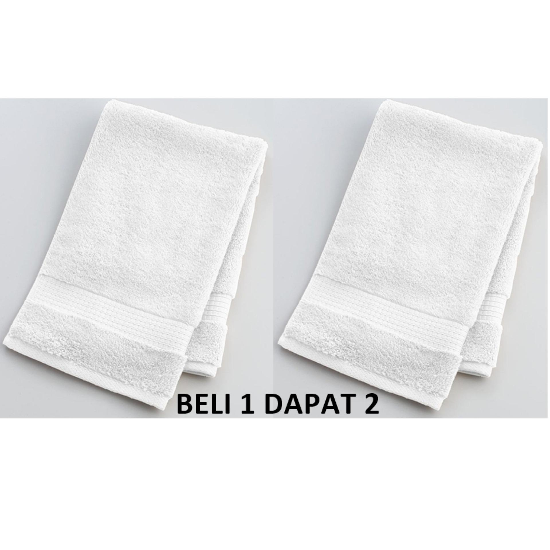 Handuk Kecil Putih Polos Mutia 30x70 By Magra Store.