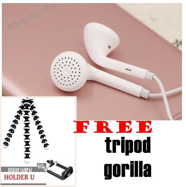 oppo earphone F1 plus F5 smart phone rael FREE Tripod Gorilla mini