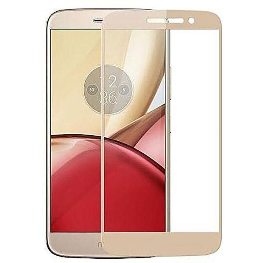 HMC Motorola Moto M / TX1663 / XT1663 - 2.5D Full Screen Tempered Glass - Lis Emas