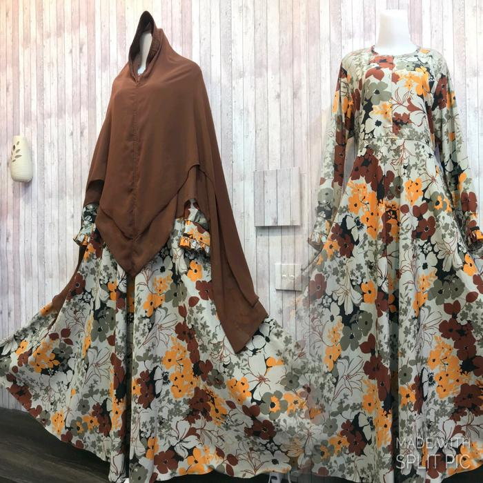 Adzra Gamis Murah syari /busana muslim wanita - Azzahra Dress - Kuning