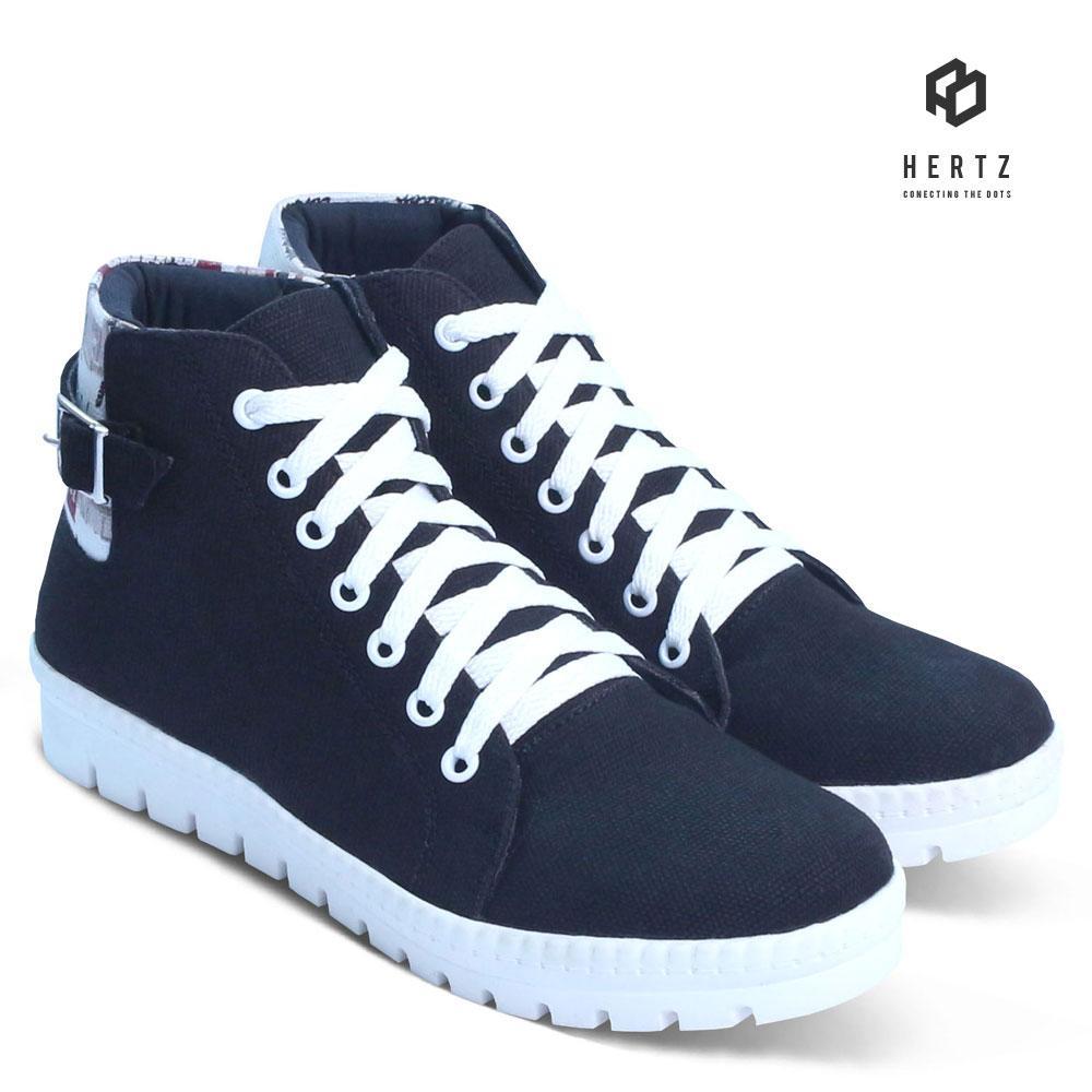 Sepatu Sneakers Wanita H 2101 Sepatu Kets dan Kasual Original Hertz Model Terbaru Harga Murah Cantik Warna Hitam untuk Sekolah, Kuliah, Jalan, Santai