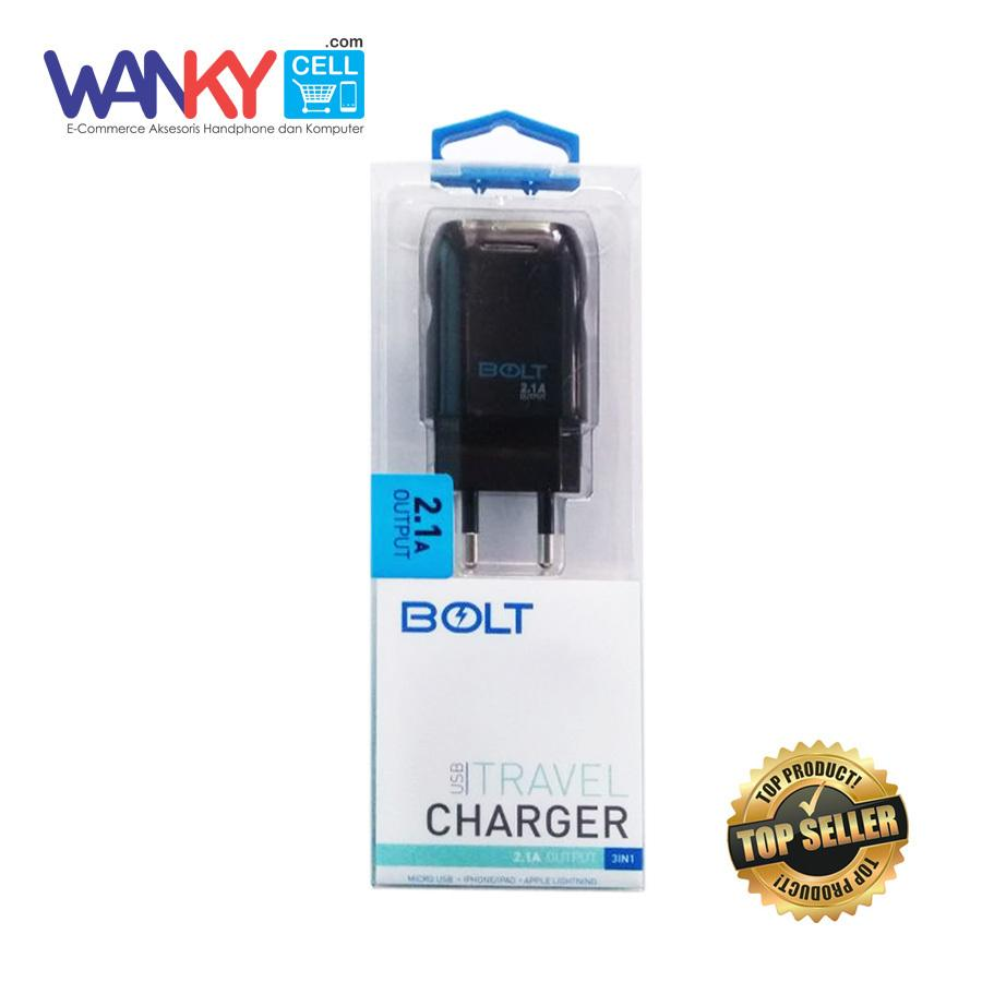 Bolt Travel Charger USB Output 21A 3 In 1