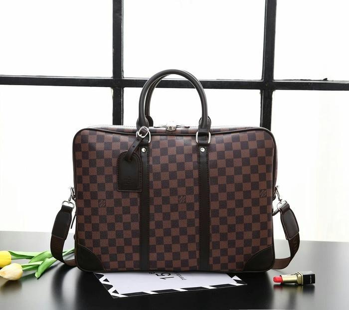 PALING LARIS Tas Kantor Lv Louis Vuitton Porte Documents Voyage Kode F2272# Laptop