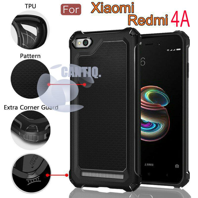 Case Rugged Ultra Capsule For Xiaomi Redmi 4A Hybrid Armor TPU Shockproof Anti Slip Soft Back Case / Softcase / Casing Xiaomi Redmi 4A / Case Capsule - Hitam / Black