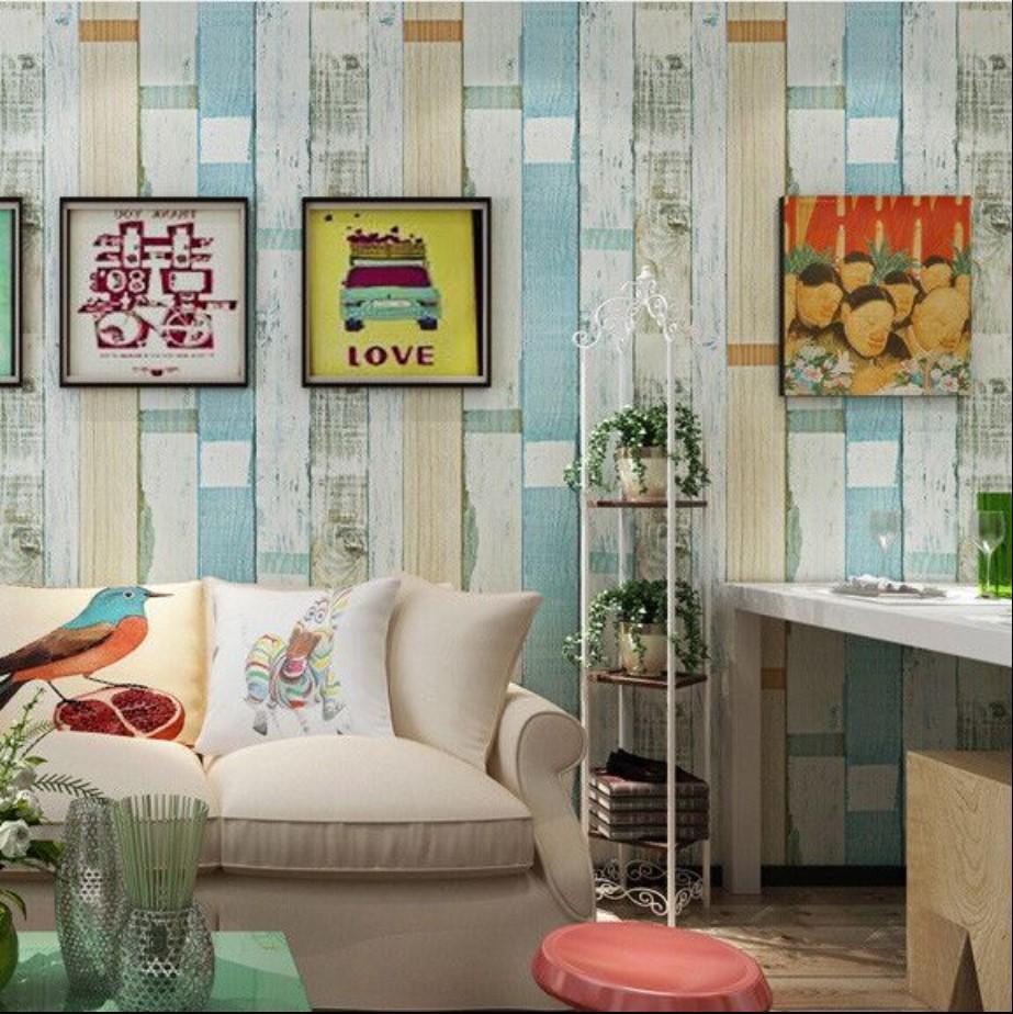 Stiker dinding wallpaper stiker motif kayu 5260 premium