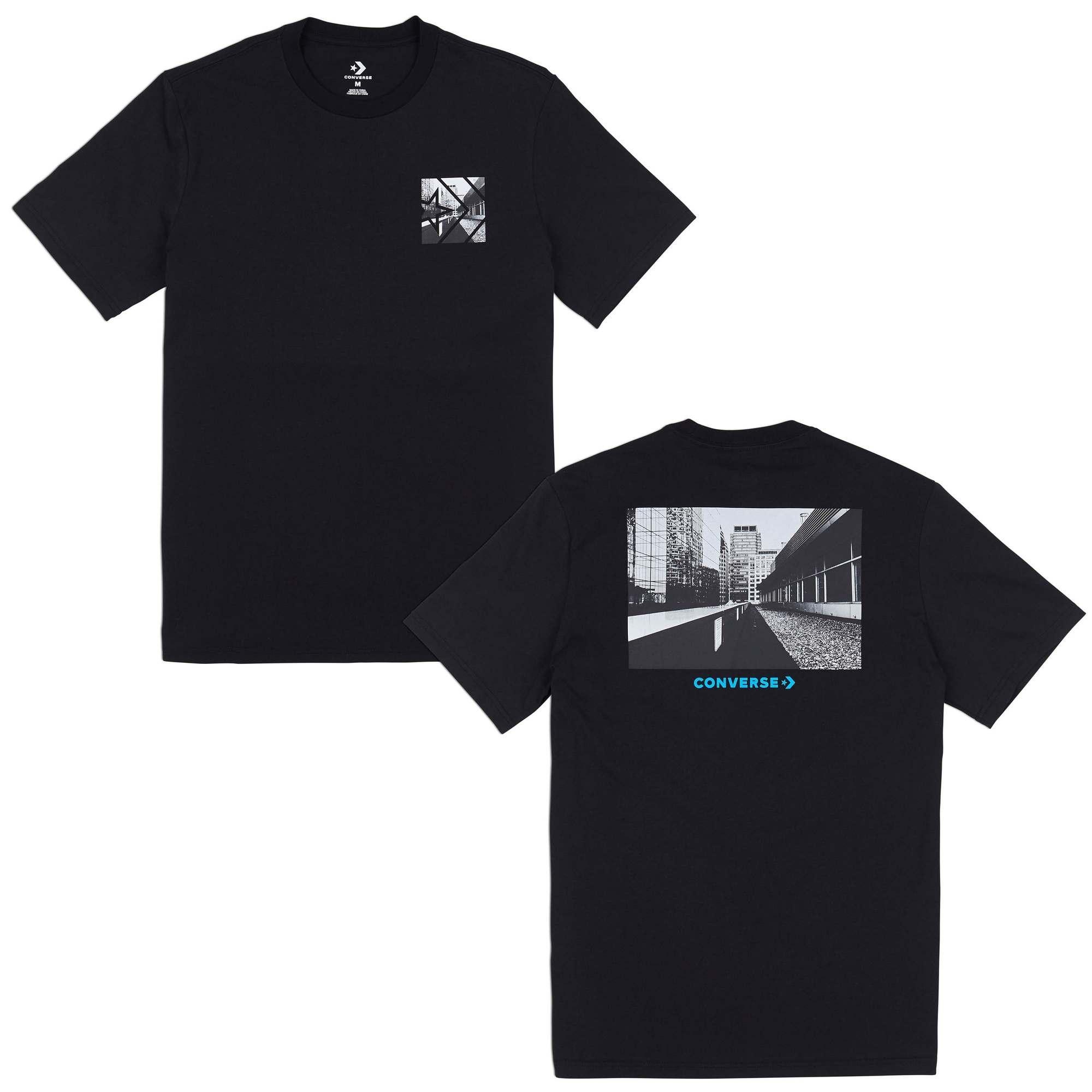 CONVERSE STREET VIEW TEE - BLACK - CON008725A05 d727fc3df7