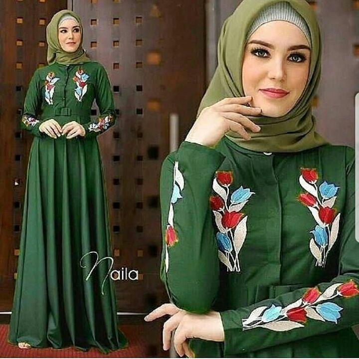 """""""BC NAILA"""" Maxi Dress Syari Gamis Bahan Balotely Wolfice Katun Rubiah Spandek Panjang Hijab Casual Pakaian Wanita Trand Terbaru Fashionable"""