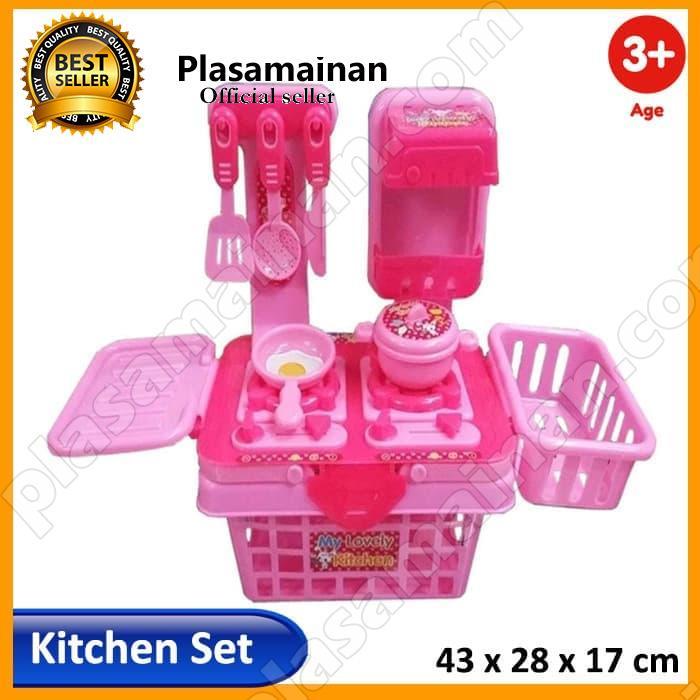 Momo Toys My Lovely Kitchen Set 901k Pink Mainan Masak Masakan Anak Perempuan