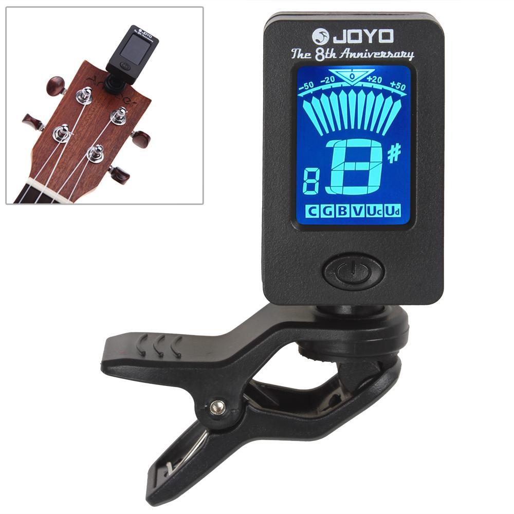 360 Derajat Diputar mini Digital LCD Klip-Pada Penala For Berwarna/gitar/ bass