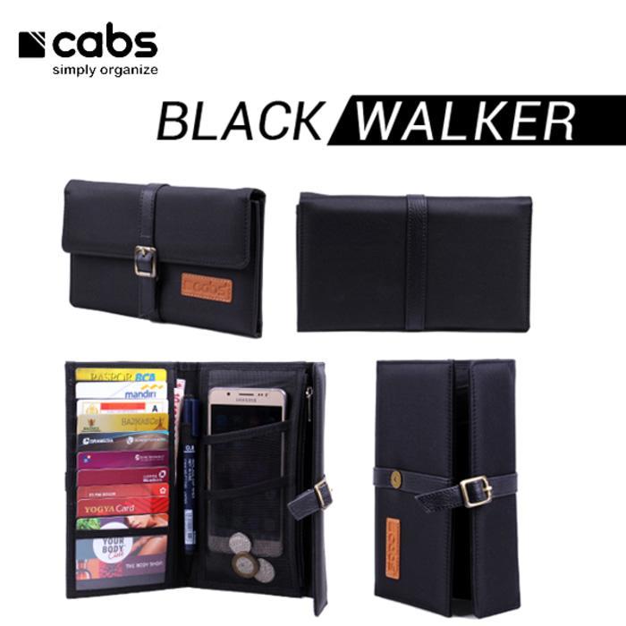 Cabs Pocket Walker - Dompet Wanita & Pria HPO Organizer Unik Cantik Dompet Kartu Branded Serbaguna Dompet Lokal Cewek Cowok Wallet Card Holder Multifungsi - Black
