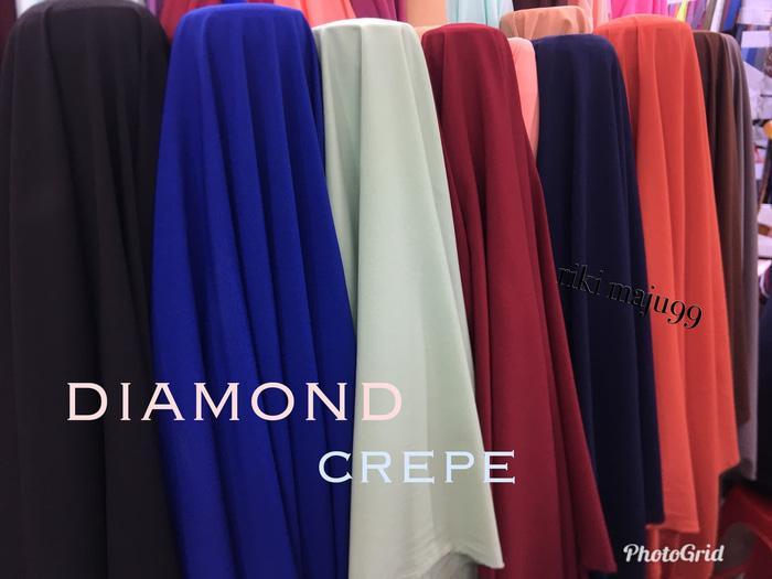 Kain diamond crepe/seruti diamond/bahan kerudung TIPE TBM-0001