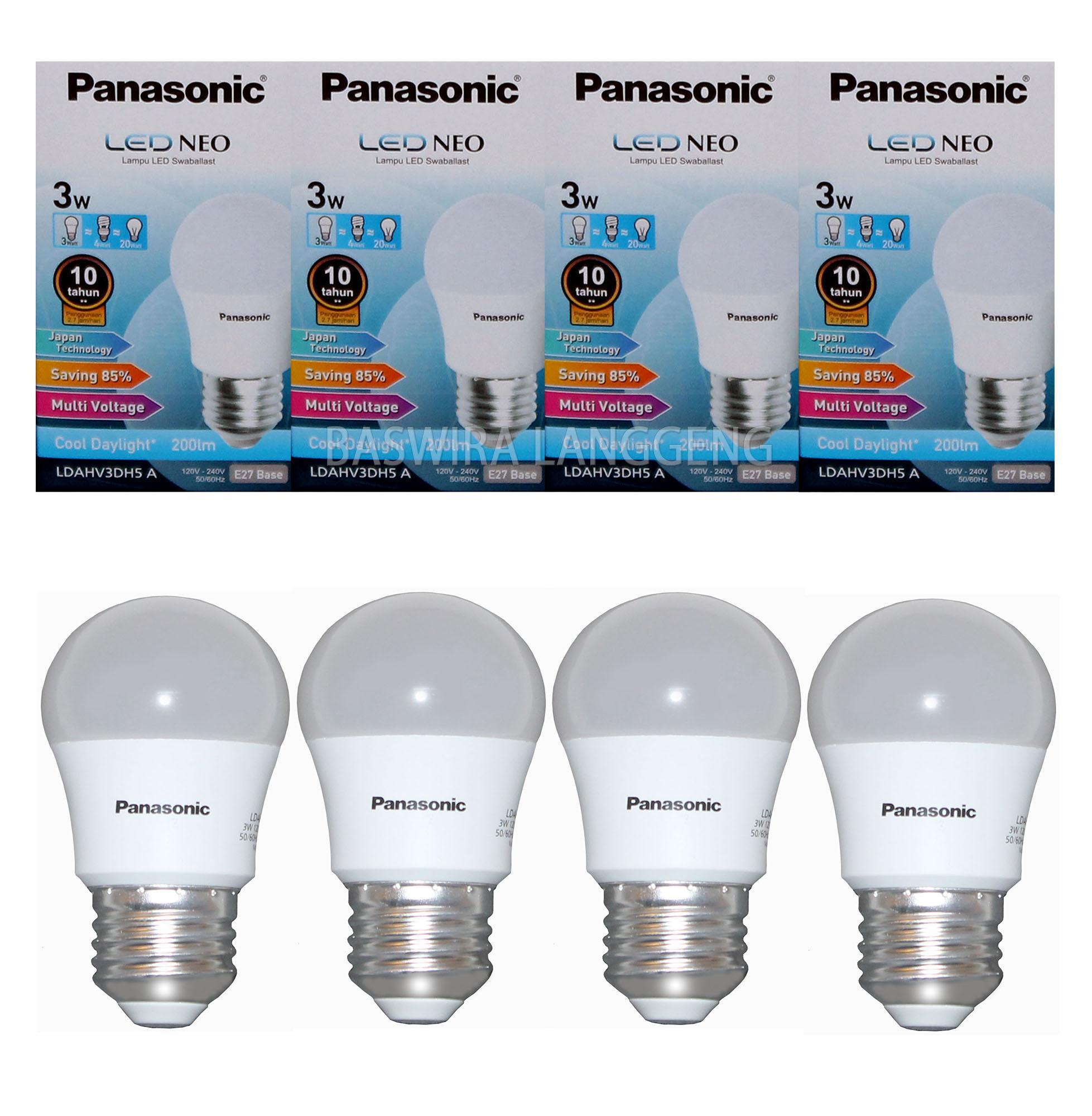 Jual Lampu Bohlam Bulb Hannochs Bola Led Basic 7 Watt Gojek Pick Up Panasonic 3 Wat W 3watt 3w Neo Paket 4 Pcs Putih