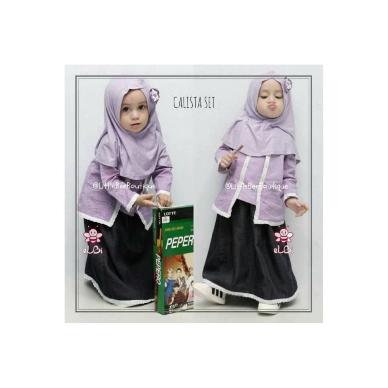 baju muslim anak terbaru | setelan baju bayi perempuan usia/umur 1-2th