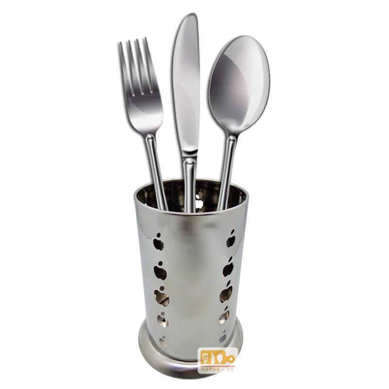 Toko David Tempat peralatan makan 10 x 17 stainless steel / rak sendok / rak pisau
