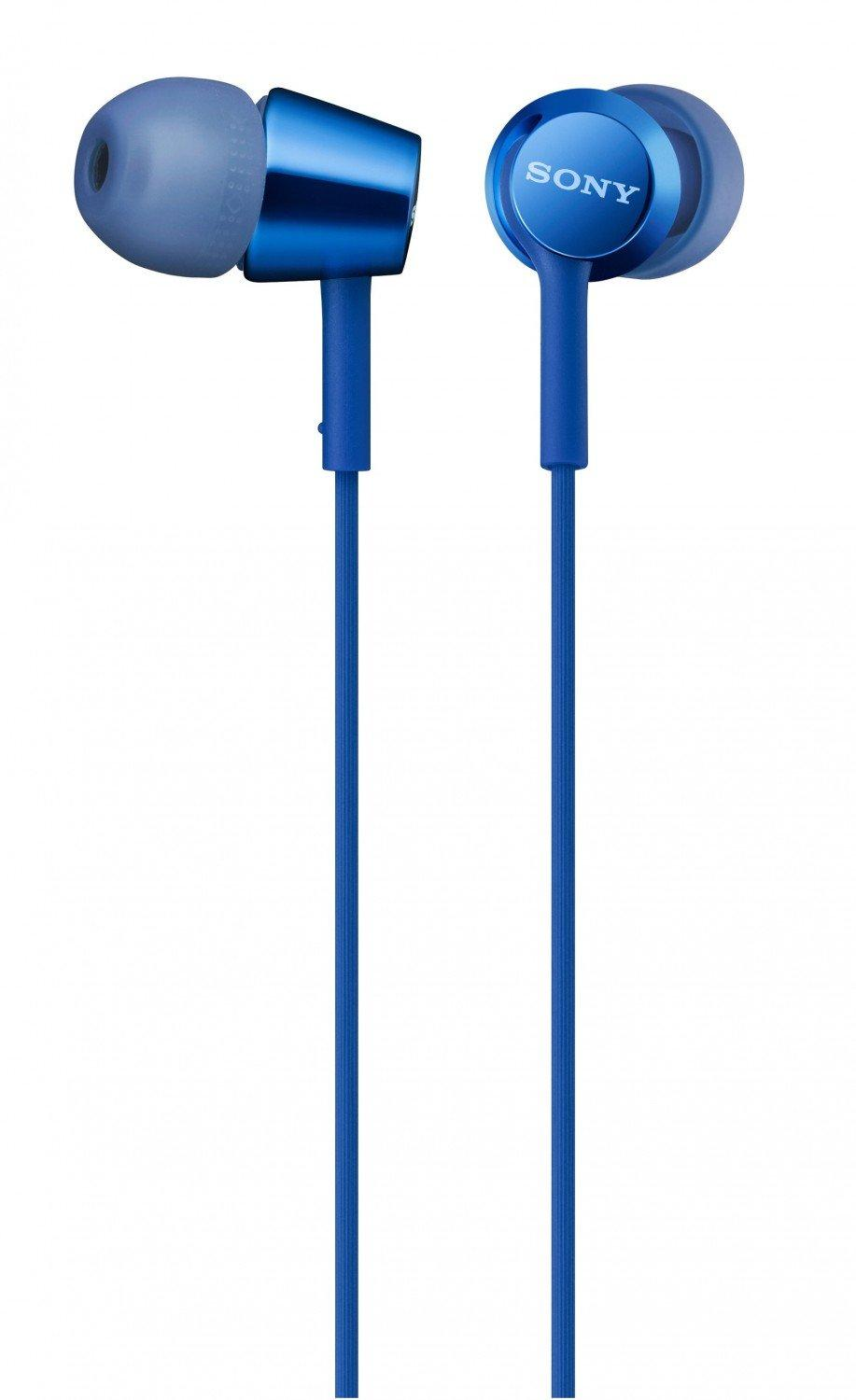 a6fc4e1ac91 Sony Original MDR-EX155AP Dark Blue In Ear Headphones with Mic - Headset  warna Biru