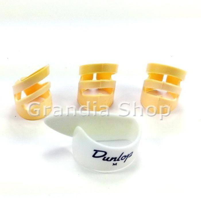 PROMO Set Dunlop Thumb Pick & Alaska Finger Pik Jari Jempol Gitar TERLARIS