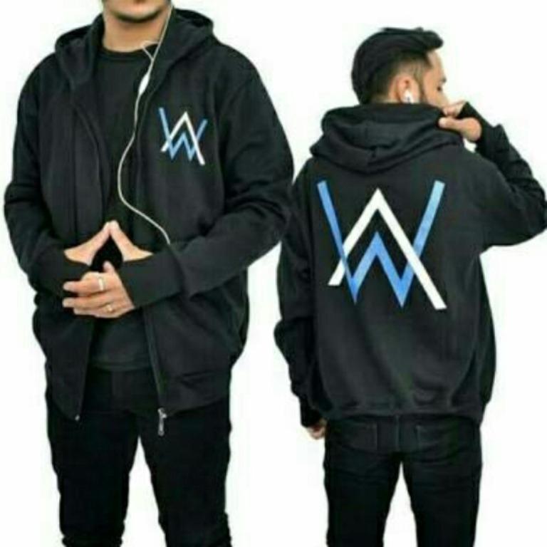 IZANAMI Jaket Alan Walker Logo Colored Black - Murah