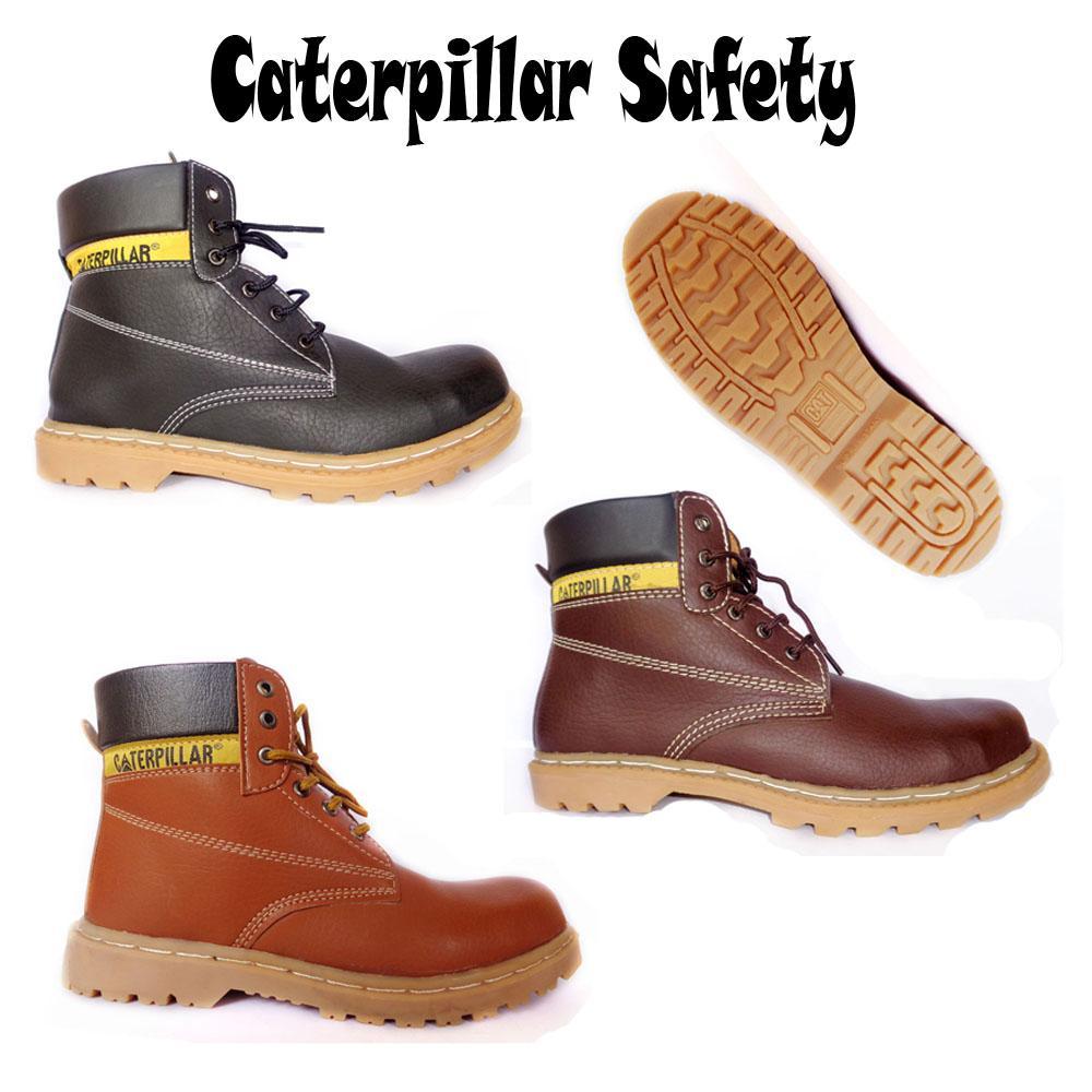 Grosir Sepatu Murah Boots Caterpillar Safety Lion Ready 3 Warna Gudang Fashion