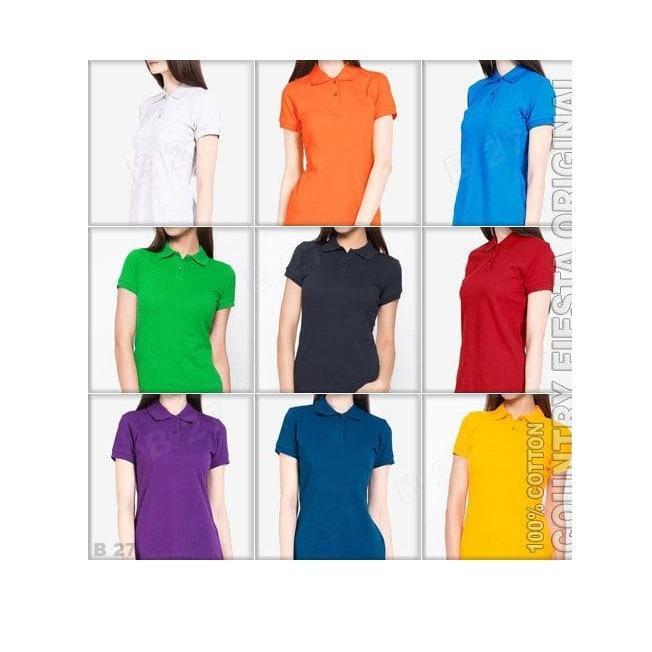 R2G Store - Polo Shirt Polos M L XL Lengan Pendek Kaos Kerah Pakaian Berkerah Atasan Wanita Lacos Pique Lacost Fashion Simple Keren Simpel Formal Casual Korean
