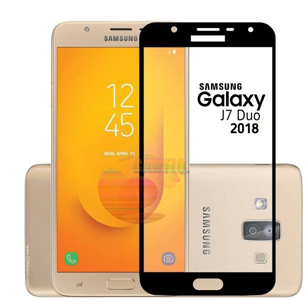 Tempered Glass Full Screen Black Samsung Galaxy J7 Duo 9H Screen Anti Gores Kaca / Screen Guard / Screen Protection / Temper Samsung Galaxy J7 Duo ...
