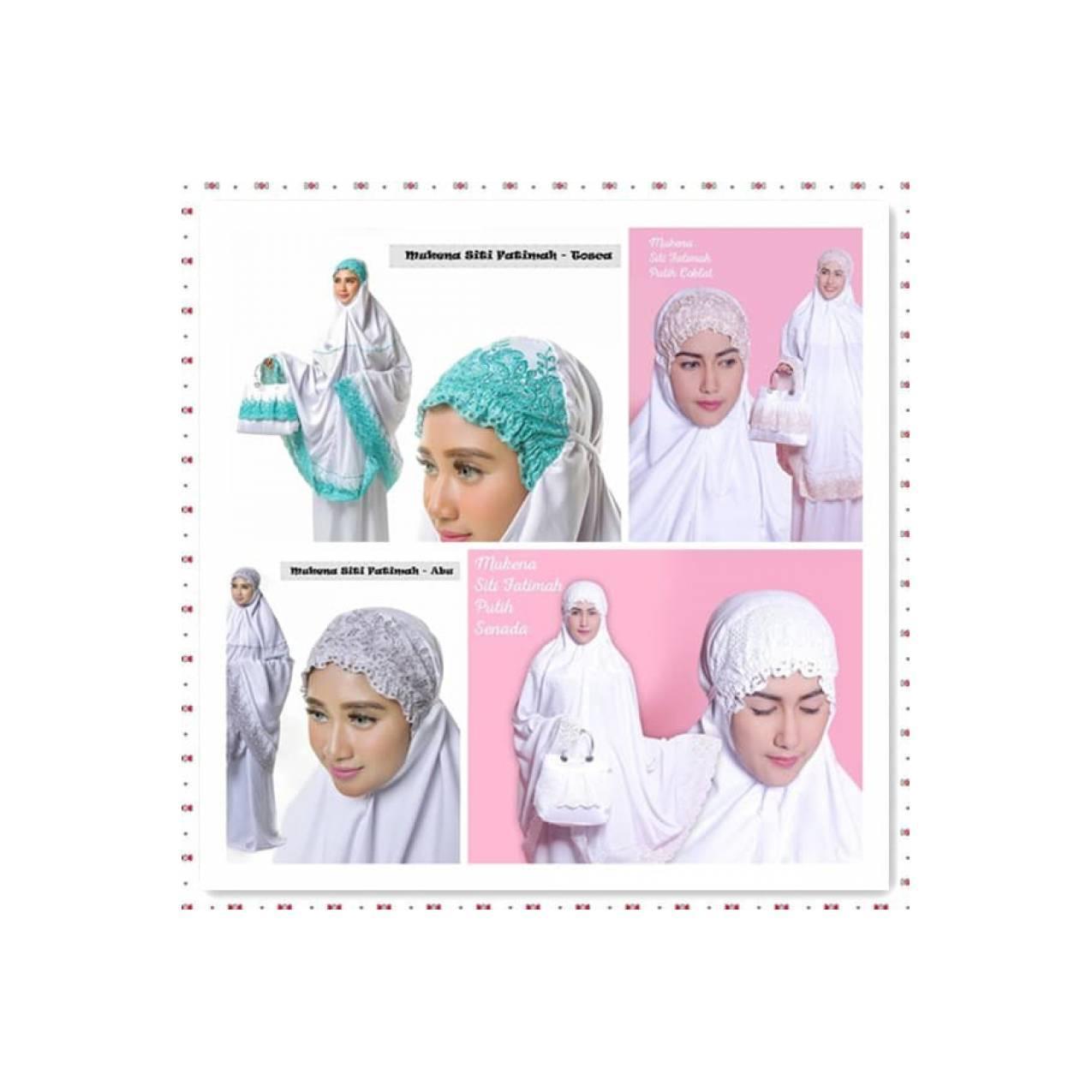 Mukena Putih Siti Fatimah - Bahan Polino Silk Adem Bisa Untuk Dipakai