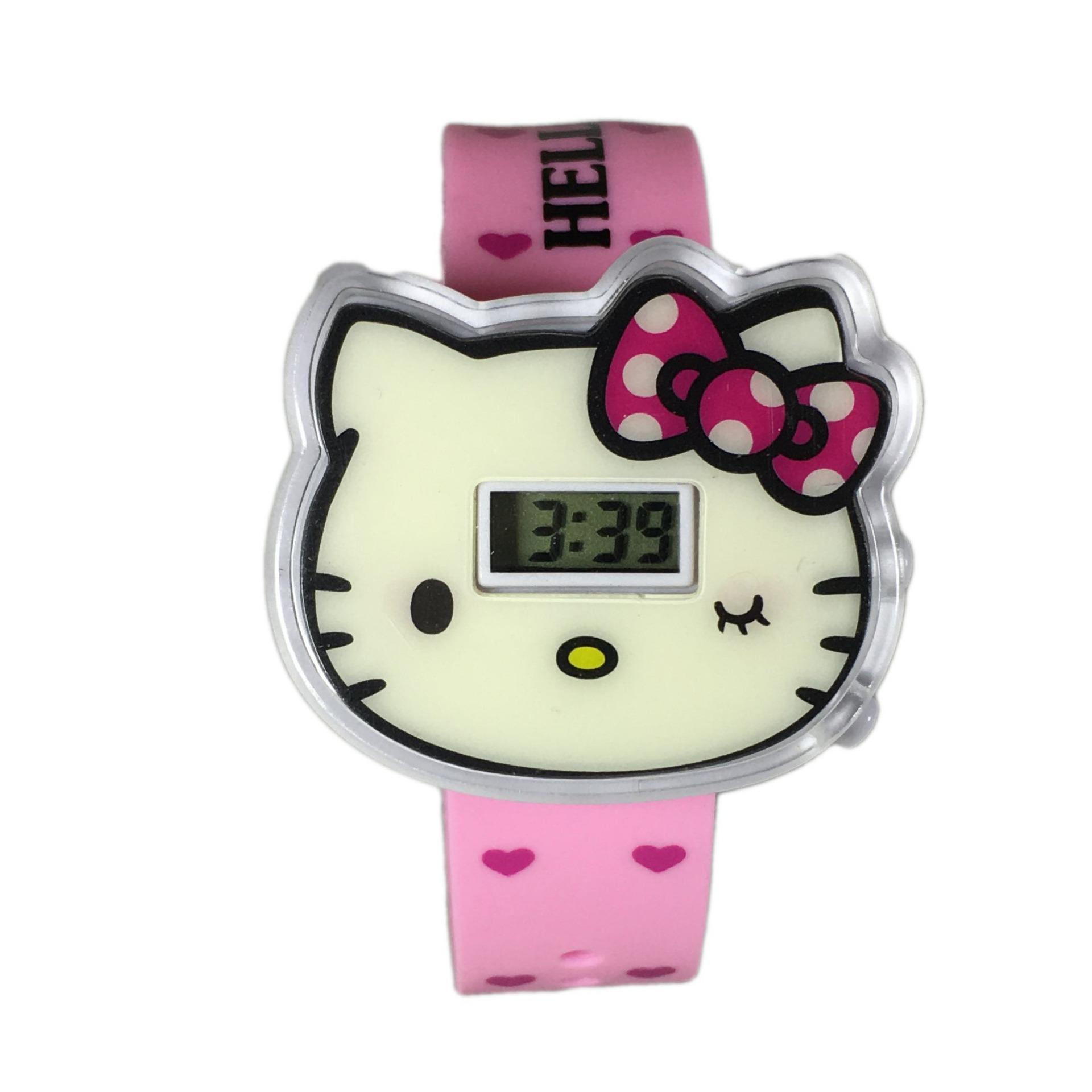 DnB COLLECTION Jam Tangan Digital Cover Hello Kitty - Light Pink