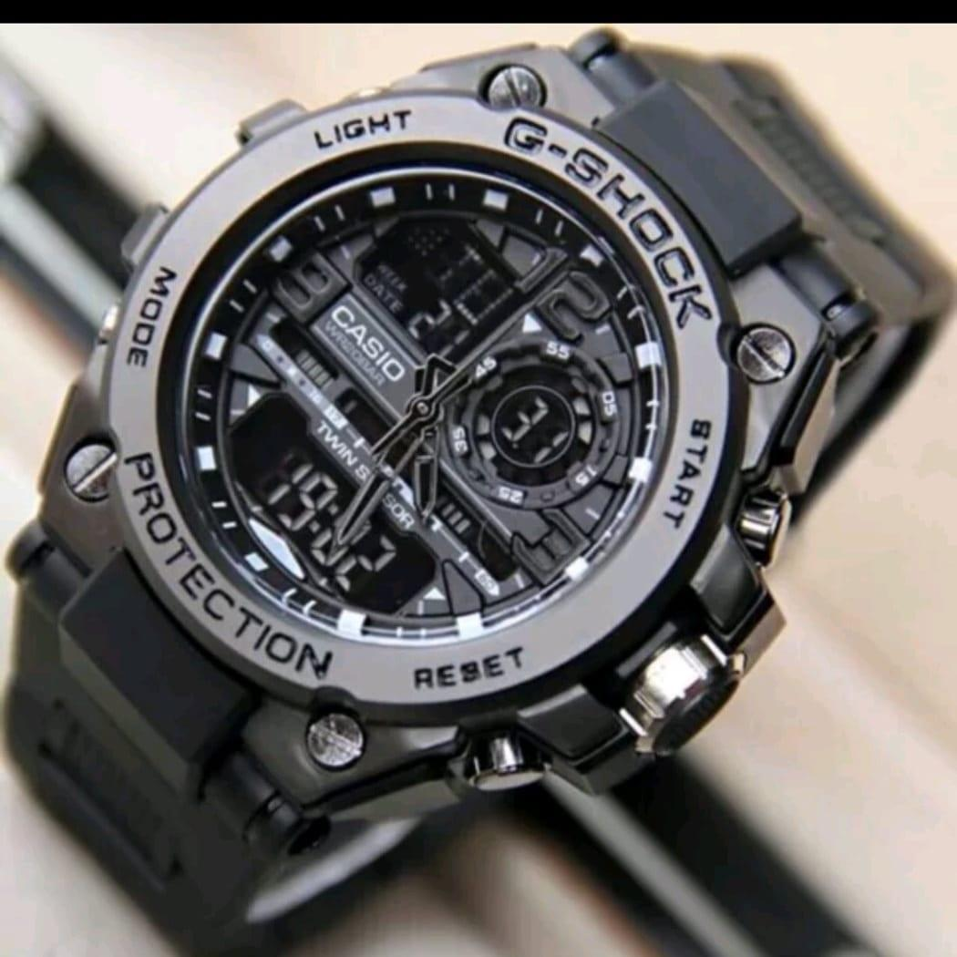 jam tangan pria sporty Casio G Limited edition - dual time - rubber strap